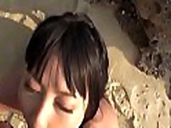 Cute round russian ass darling mesmerizes with lusty titty fucking