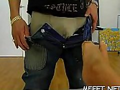 Homemade footjob satisfies the dirty-minded man to the max