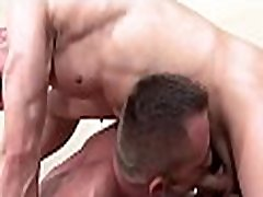 Hot twink gets his hard ramrod sucked by lascivious gay