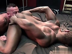 Muscle gay rough sex with cum inside