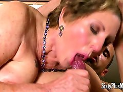 Breasty matures fucked and facialized
