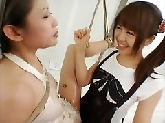 Incredible Japanese whore in Crazy Lesbian, horney hips JAV movie
