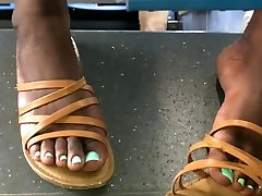Sexy juicy ebony toes