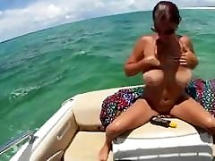Big wide asshore boobs mature milf on boat