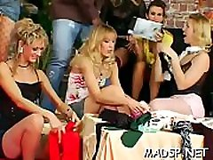 Cock hungry sweethearts engulf and fuck in a group big leady and small boy scene