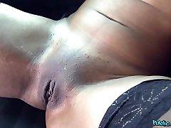 Ebony Beauty Fucked in a Car - PublicAgent