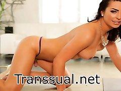 Transbabe Natassia Dreams horny anal sex with horny stud