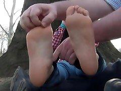 asian big feet tickled