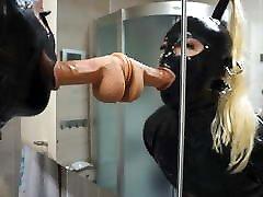 Sissy Blowjob Training in Latex