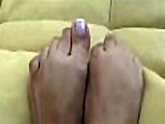Sexy foot fetisj with a xev video beauty smashing a face with feet