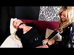 Bondage leather catsuit and lesbian sex part 1 - full video at onlyfetishporn.com