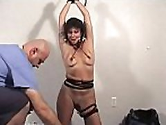 Nasty doxies get degraded in a real coarse bondage session