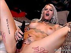 tattooed ava addam heating sexy moaning playing with vibrator