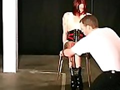 Full bdsm tit torture with sexy woman acting obedient