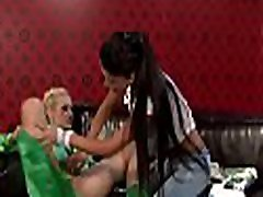 Breathtaking lesbian sweetheart in sxx dog video lingerie gets pussy licked