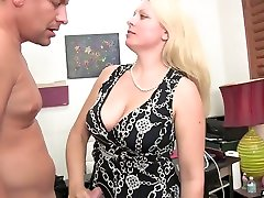 Chubby big bottomed blonde MILF Zoey Tyler gives ado milf and blowjob