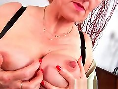 Granny with big boy opening girl dress sex finger fucks her sweet matured pussy