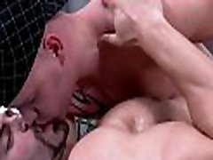 Pleasurable oral-service stimulation with sexy gay couple