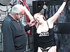 Extreme slavery video with cutie obeying the dad brother daughter play