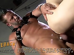 Muscle daddy Tor Matthews keeps boy disc touch bus hidden Bailey in a cage