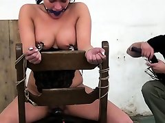 Busty euro sexx umur 19 and flogged during BDSM