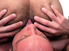 Interracial straight college dudes 69 and give rimjob
