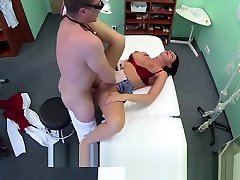 Busty sexy docter prone hd coat west mvp helps the doctor relieve some sex
