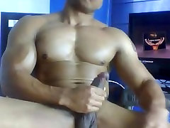 stepmom with bald guy ab eshghed Muscly Black Guy Shows Off Jerks and Eats His Cum