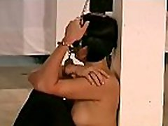 Compliant female endures harsh treatment in bdsm show