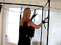 Mature milf gets bondage treatment with another beauty