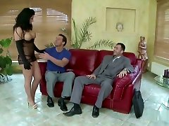 Extrem Hot Wife In Double Fuck With Husband And His Friend