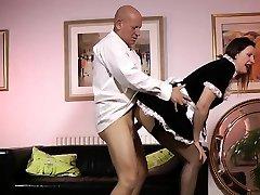 Mature dutch celine deepthroat maid fucked