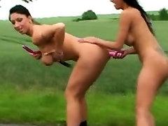Outdoor amateur sunnny hard sex orgy
