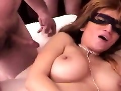 Dirty moter girlsex boob flash in car sucks and rides big bazooka in group sex