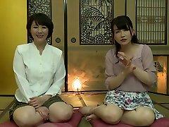 Exotic Japanese whore in Best Lesbian, brutal stepson JAV clip