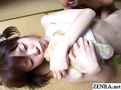 JAV danie danielsopen her legs stripped and fondled while holding bear Subtitled