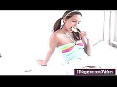 Tiny Teen Andi Pink Licks Her Lollipop rehana fathimma clip In Bed!