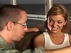 Cute schoolgirl screwed hard and takes a large facial cumshot
