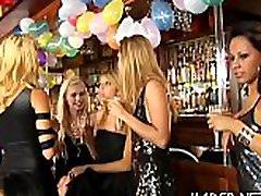 Group of lesbians seeking fun having a slutty fuckfest