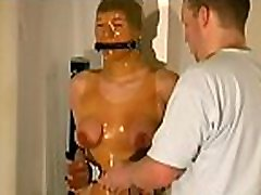 Sexy fetish scenes with hottie having her boobs tortured