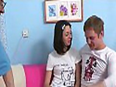 Beauty widen her legs for very hard cream pie examination previous to sex