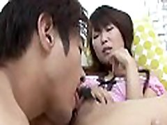 Asian toys her twat previous to taking on a cock with her mouth