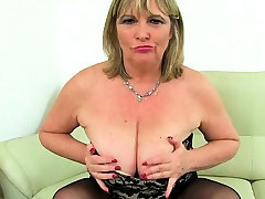 English massive belly pregnant milf Katie Coquard fingers her tight fanny