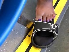 Ebony bbw purple toes