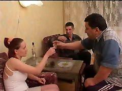 Russian teen Lola gangbanged