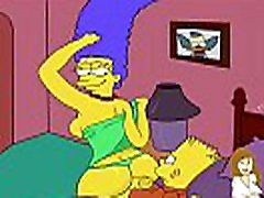 Simpsons sissy tranny dildo cartoon Marge fucked ass creampie gangbang gangbang