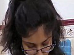 Indian teen cleaning herself