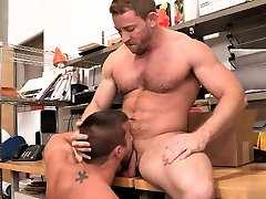 Muscle uhd brazzer outside anal rimming with cumshot