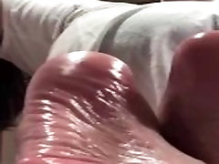 Asian wrinkled soles on private Skype session 2