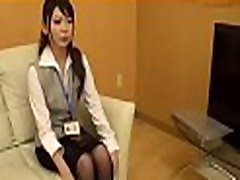 Tempting office whore seduces her colleague on work